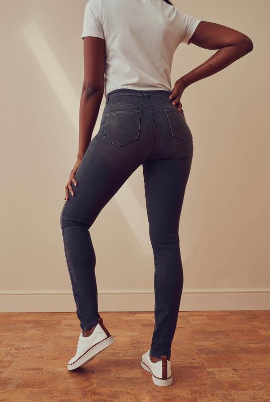 Dark Grey Vintage Skinny Jeans