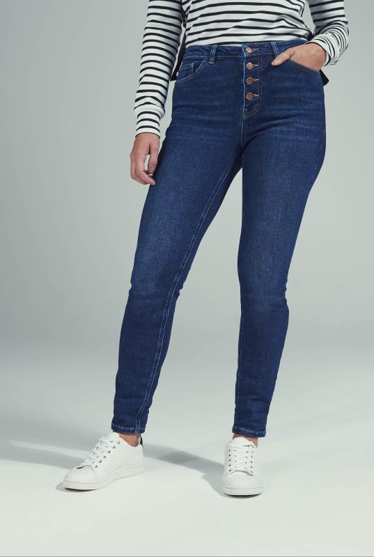 Indigo Blue Vintage Button Fly Skinny Jean