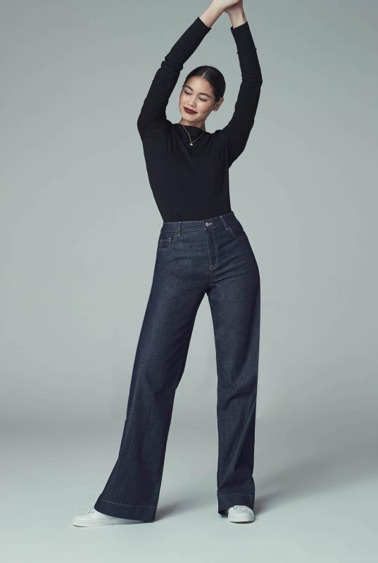 Tall Jeans Indigo Blue Tailored Wide Leg Jeans