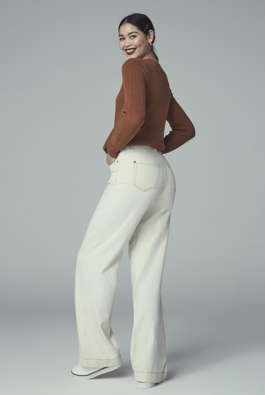 Off White Tailored Wide Leg Jean