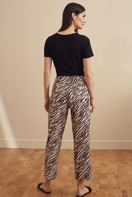 Stone Animal Print Denim Culotte