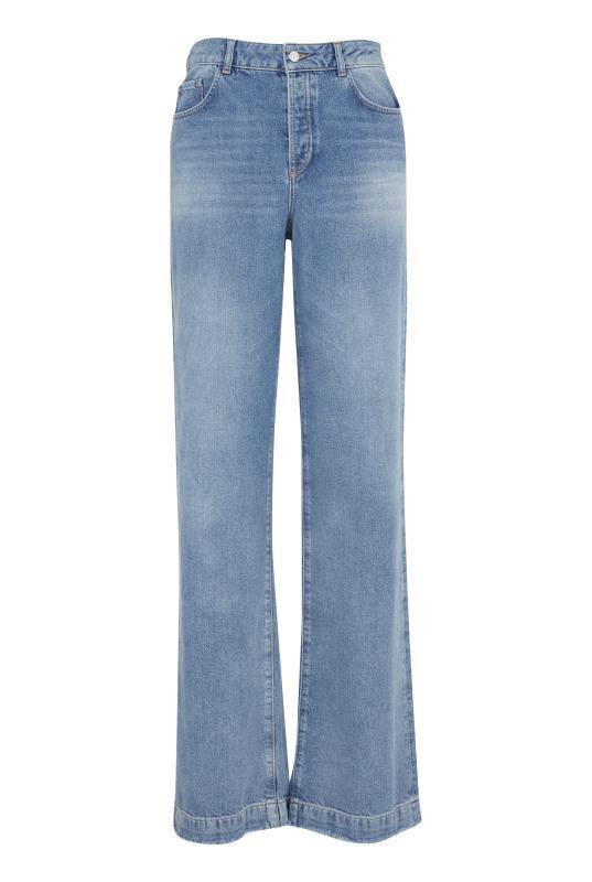 Blue Light Wash Wide Leg Jeans