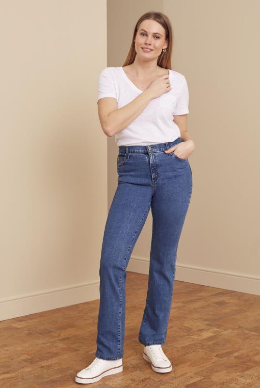Tall Jeans YOGA JEANS Blue Chloe Straight Leg Jeans