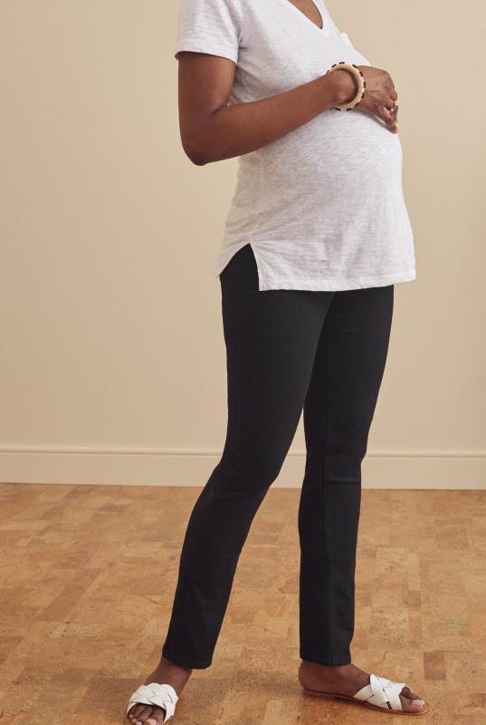 Tall Jeans Maternity Black Slim Leg Jean