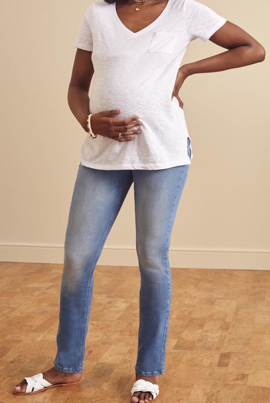 Tall Jeans Maternity Light Blue Slim Leg Jean