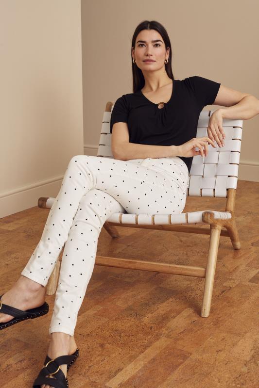 Tall Jeans White Polka Dot Printed Skinny Jean