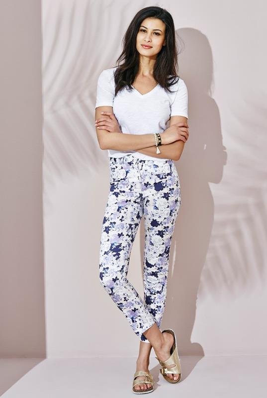 Tall Jeans White Printed Jeans