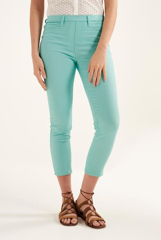 Aqua Stretch Twill Crop Jegging