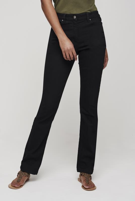Black Shaper Straight Cut Jeans