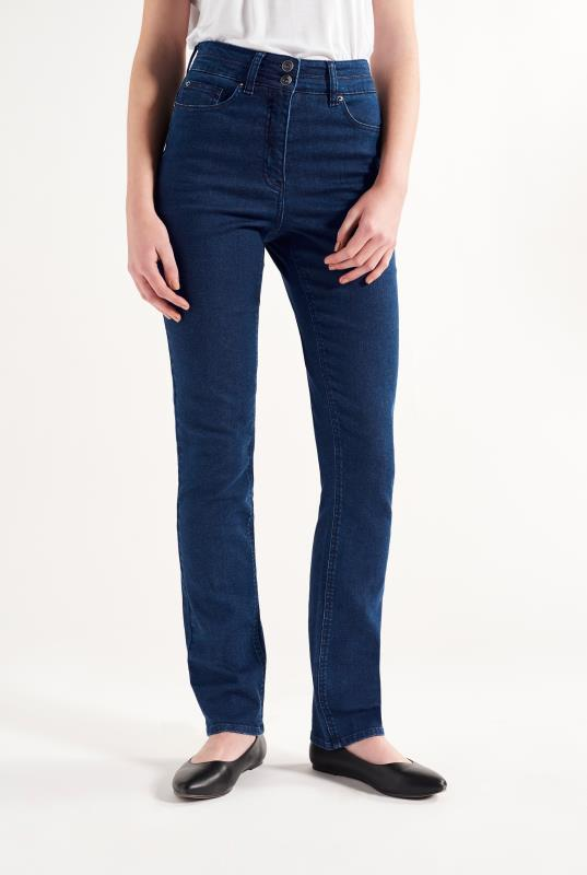 Sculpt High Rise Straight Cut Jeans