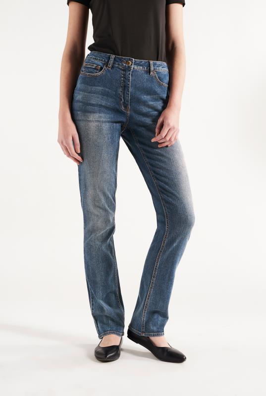 Blue Shaper Straight Cut Jeans