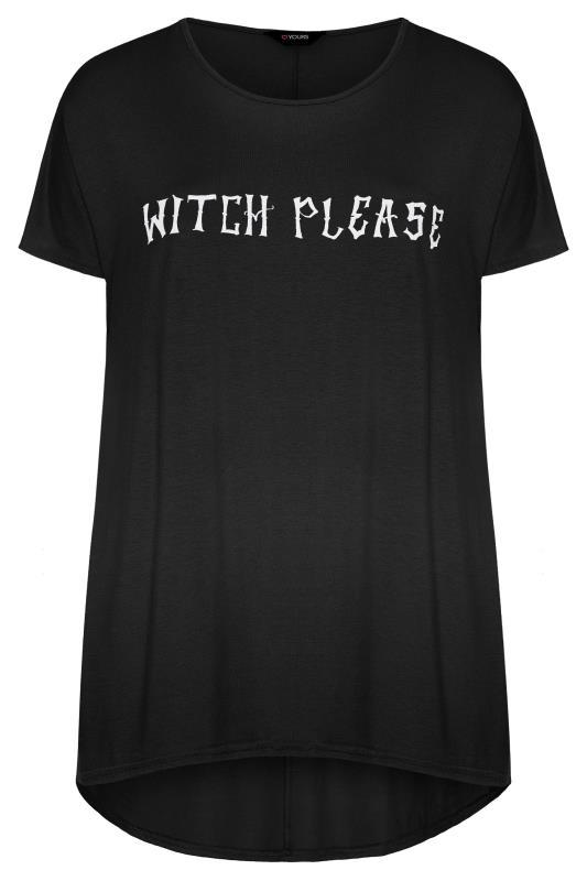 Black 'Witch Please' Slogan Top