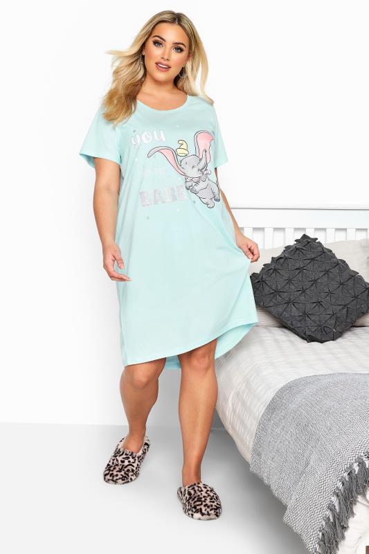 Plus Size Nightdresses & Chemises Blue Disney 'You Got This Babe' Dumbo Nightdress