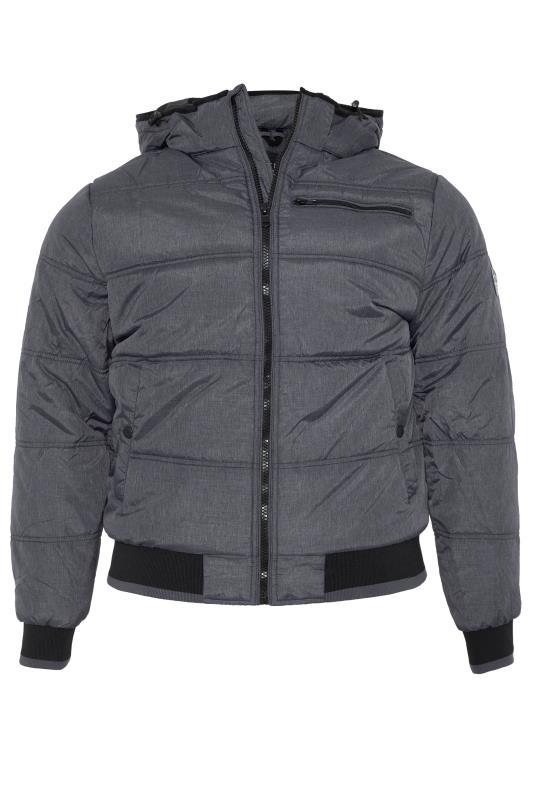 Plus Size  BLEND Grey Padded Jacket