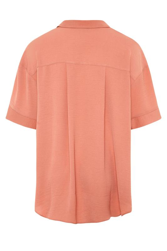 THE LIMITED EDIT Orange Pleated Front Top_BK.jpg