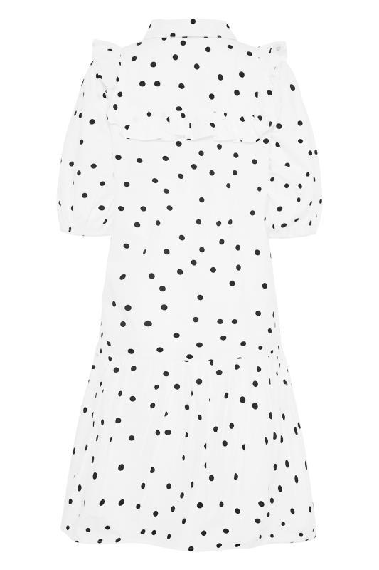 LTS White Polka Dot Puff Sleeve Dress_BK.jpg