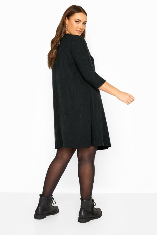LIMITED COLLECTION Black Ribbed Swing Dress
