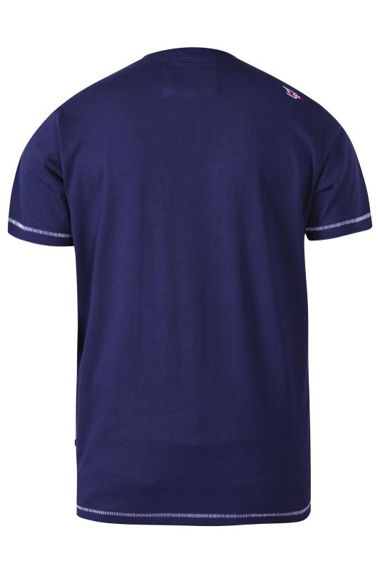 D555 Navy Abs Printed Graphic T-Shirt