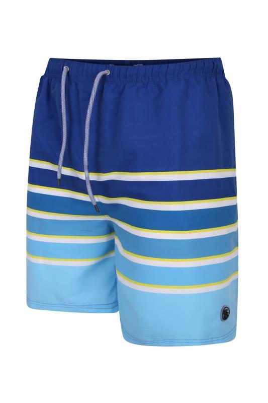Großen Größen  ESPIONAGE Blue Graded Stripe Swimshort