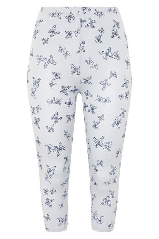 2 PACK Navy & Grey Butterfly Print Cropped Leggings_F1.jpg