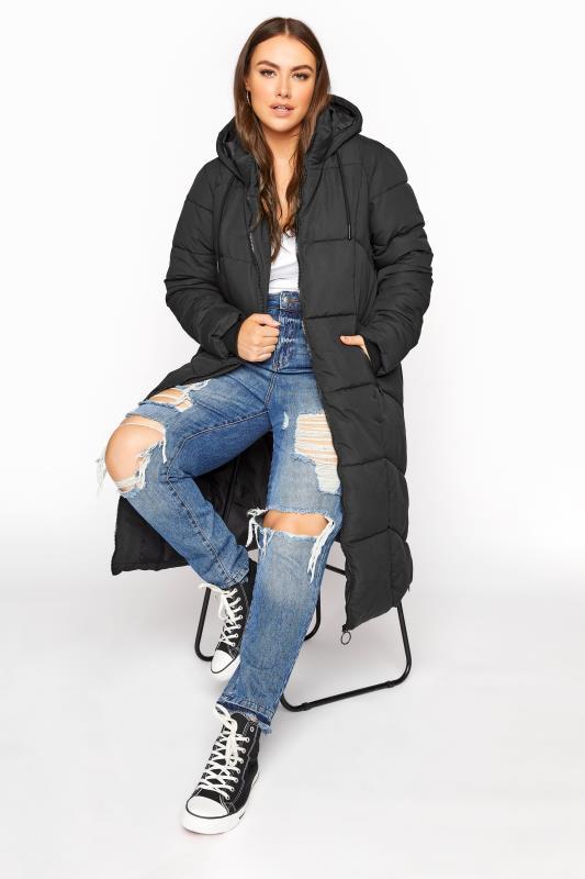 Black Hooded Puffer Maxi Coat_A.jpg