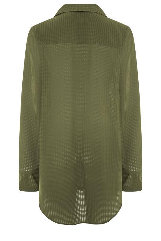 LTS Khaki Textured Overhead Shirt_BK.jpg