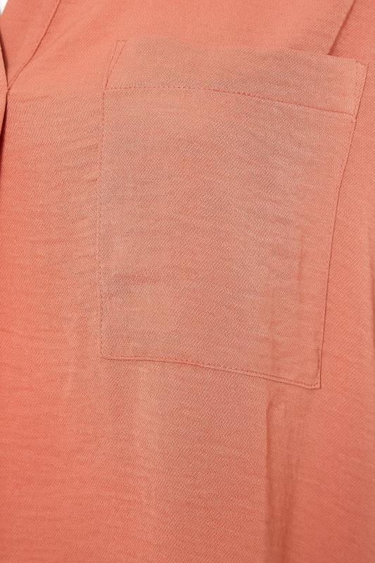 THE LIMITED EDIT Orange Pleated Front Top_S.jpg