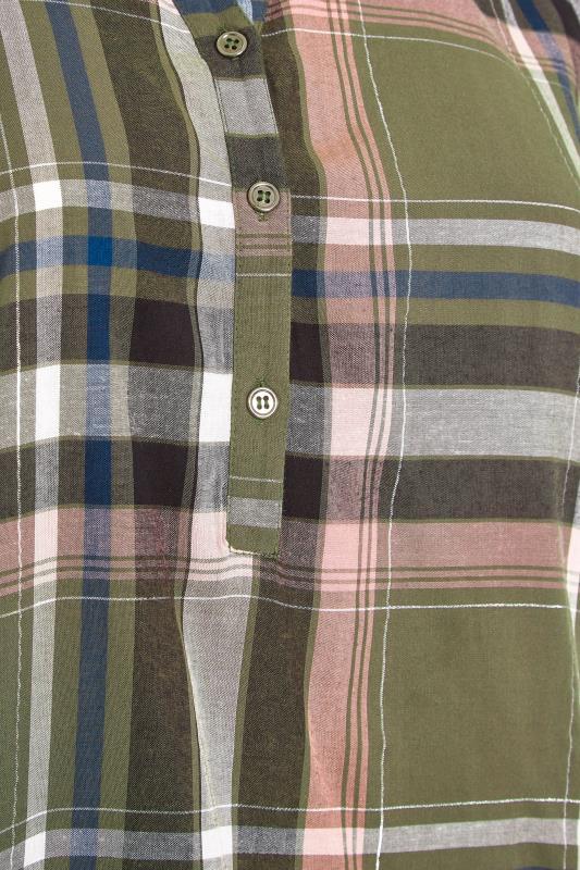 Khaki Grown On Sleeve Check Shirt_S.jpg