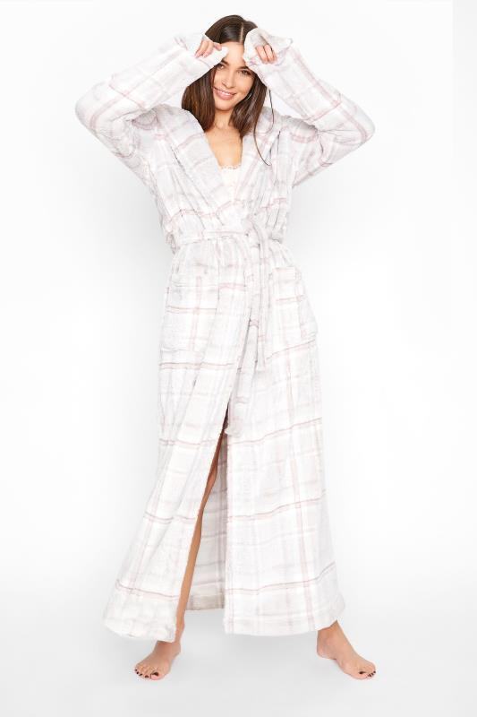 Tall  LTS Grey Check Dressing Gown