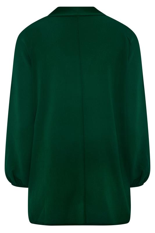 YOURS LONDON Forest Green Bow Blouse_BK.jpg
