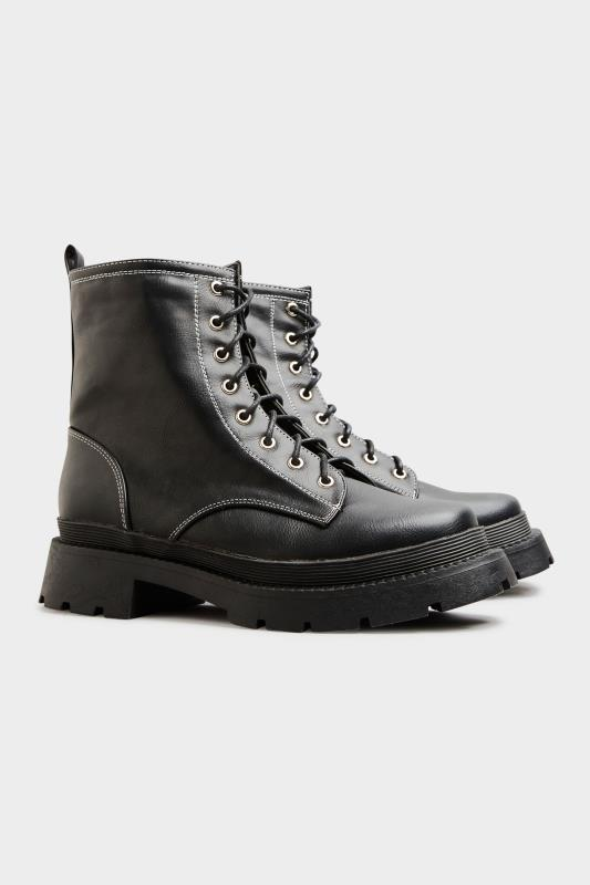 LIMITED COLLECTION Black Contrast Stitch Chunky Boots In Extra Wide Fit_C.jpg