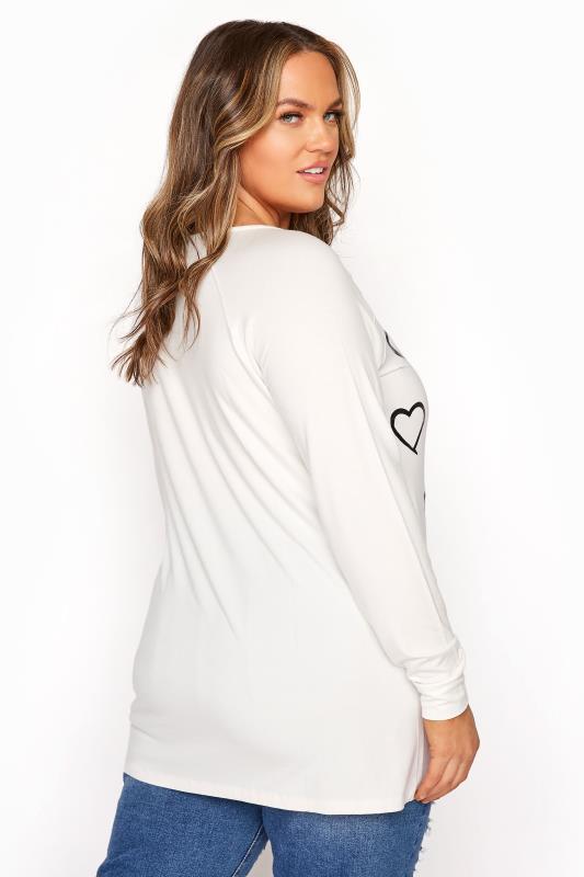 White Foil Heart Print Long Sleeve T-Shirt_C.jpg