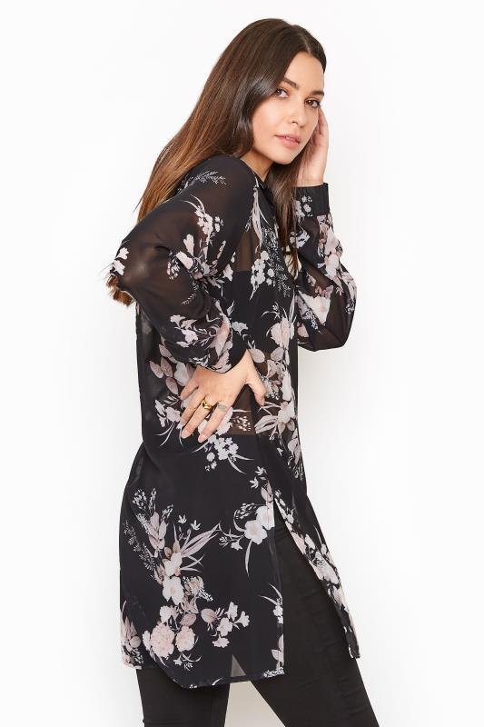 LTS Black Floral Longline Chiffon Shirt_C.jpg