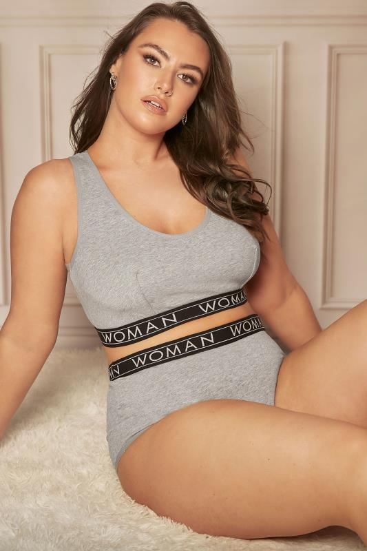Grey Lounge Woman Bralette Set