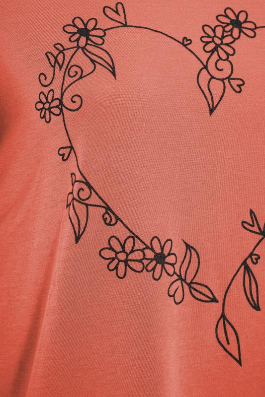 LIMITED COLLECTION Rust Heart Print T-Shirt_S.jpg