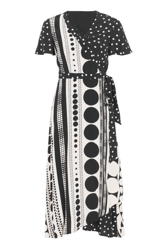 Black Spot Print Midi Wrap Dress_F.jpg