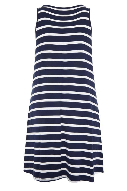 Navy Stripe Drape Pocket Dress_bk.jpg