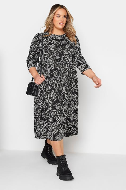LIMITED COLLECTION Black Paisley Print Midaxi Dress_B.jpg
