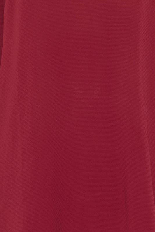 YOURS LONDON Wine Red Flute Sleeve Tunic_s.jpg