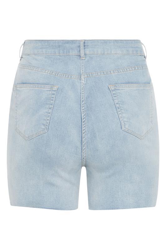 Light Blue Cut Off Distressed Denim Shorts_BK.jpg