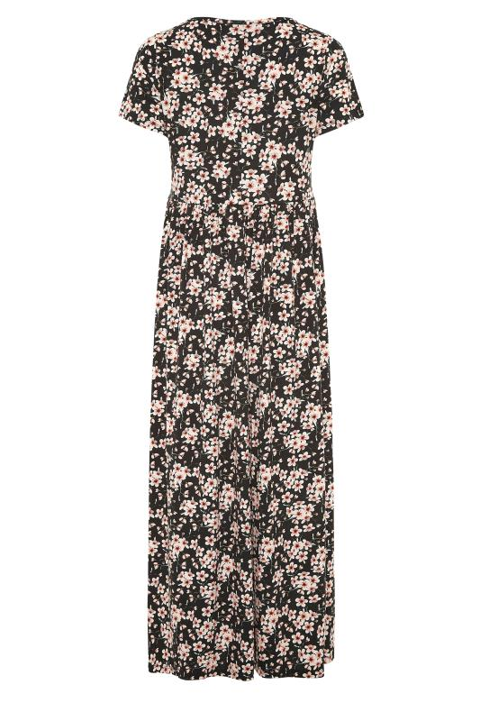 LTS Black Floral Print Jersey Midi Dress_BK.jpg