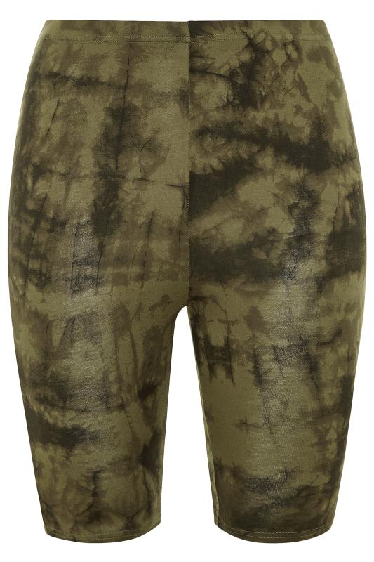LIMITED COLLECTION Khaki Tie Dye Cycling Shorts_F.jpg