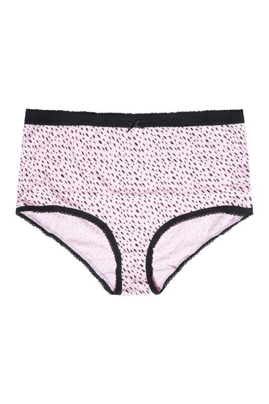 5 PACK Pink & Black Abstract Print Full Briefs_D.jpg