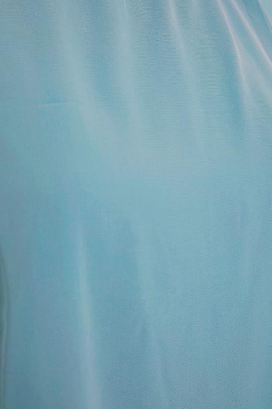 YOURS LONDON Blue Chiffon Cape Blouse_S.jpg