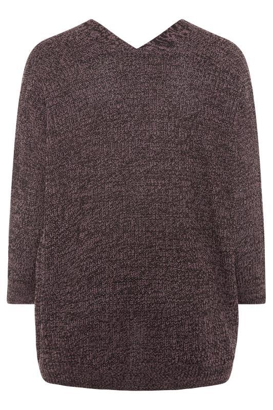 Purple Button Knitted Cardigan_BK.jpg