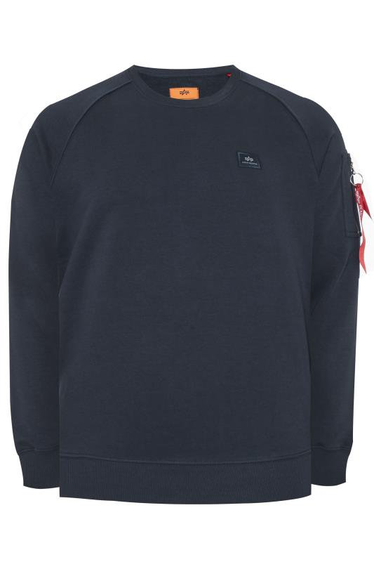 Plus Size Sweatshirts ALPHA INDUSTRIES Navy X-Fit Sweatshirt