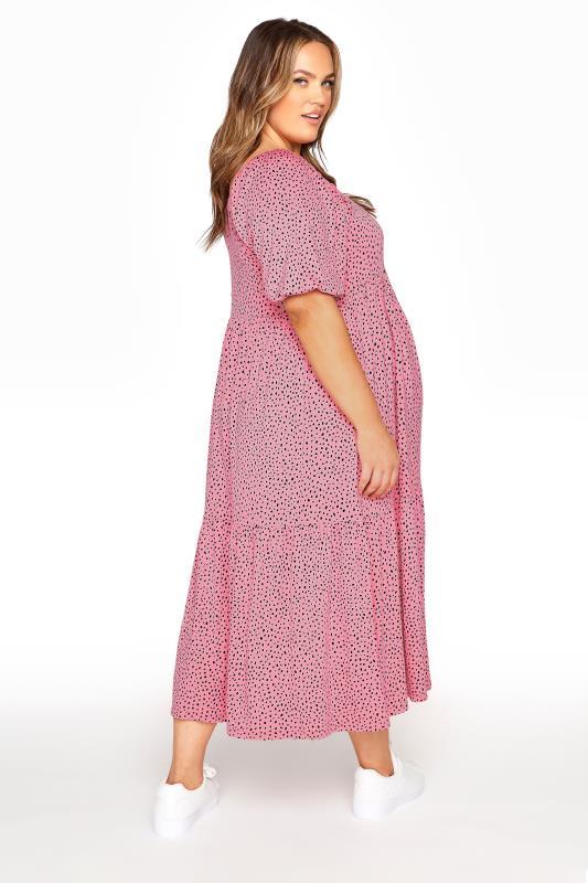 BUMP IT UP MATERNITY Pink Square Neck Midaxi Dress_C.jpg