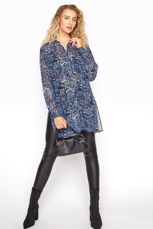 LTS Blue Mixed Animal Longline Chiffon Shirt_B.jpg