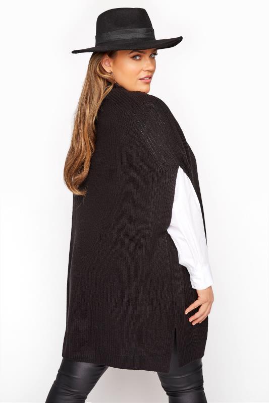 Black Longline Sleeveless Knitted Jumper_C.jpg
