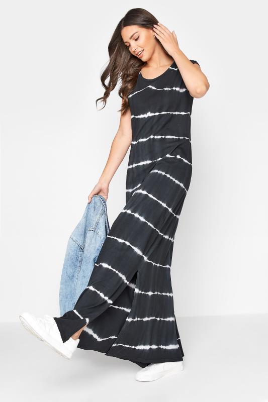 LTS Black Tie Dye Side Splits Maxi Dress_B.jpg
